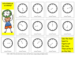 Telling Time to the Hour and Half-hour.
