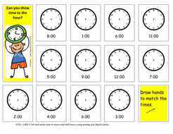 Draw Hands on the Clock to the Hour.pdf