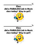 Music feedback forms