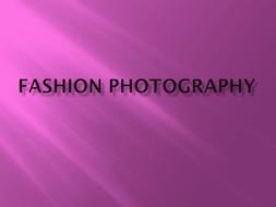 Fashion Photography Notes