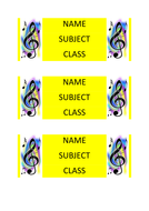 Music lesson book labels design 1