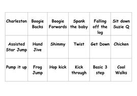 bingo card of lindy steps.doc