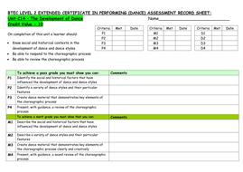 UNITC14 Development of Dance Assessment Record Sheet GREEN.doc