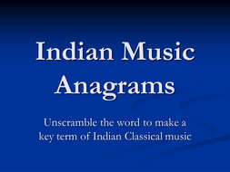 Indian Music Anagrams