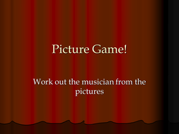 Composer/Band/Singer picture game!