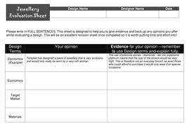 DESIGN ( JEWELLERY)-  evaluation sheet.doc