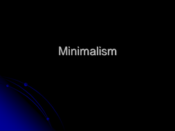 Area of Study 2 minmalism[1].ppt