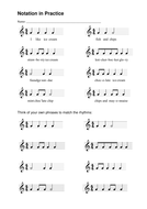 Music Theory - Notation in Practice Worksheet