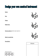 Design your own musical instrument activity