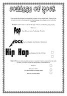 College Of Rock - mini-project