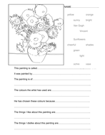 Van Gogh Sunflowers worksheet.doc
