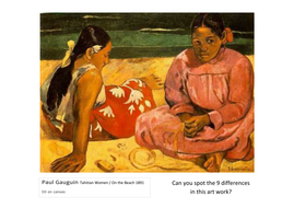 Spot the Difference Paul Gauguin Tahitian Women on the beach.pdf