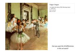 Spot the Difference Degas La classe de danse (The Dancing class).pdf