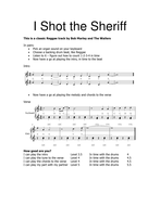 Reggae performance worksheet