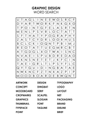 Graphic Design Wordsearch