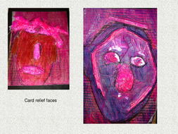 sculpture card relief working with junk.ppt