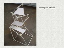 sculpture...artstraws and newspaper rolls.ppt
