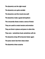 Activity On Describing Dynamics