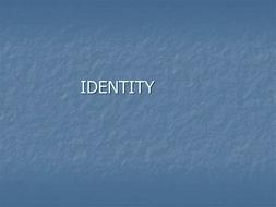 Identity Scheme of Work