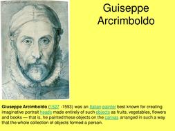 Guiseppe Arcrimboldo: fruit faces