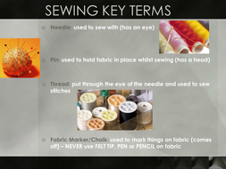 Sewing Key Terms (YR7).ppt