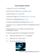 Checklist for Solo Composition Task