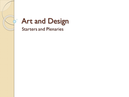 Art and Design Starters or Plenaries Set 1