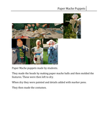 Paper mache Puppets