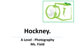 Photographic Hockney Project