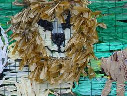 recycled plastic bag art display