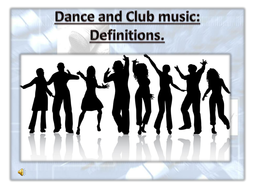 Dance music - Definitions