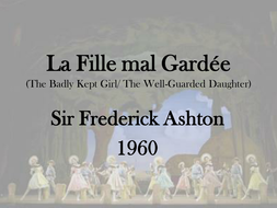 La Fille mal Gardee presentation (Dance - set work)