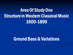 Music Ground Bass Introductory PowerPoint