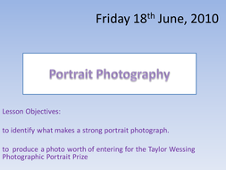 Portait Photography ppt and activities