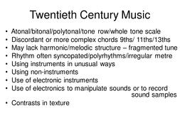 Twentieth Century Music.ppt