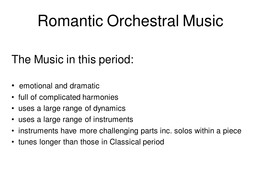 Romantic Orchestral Music.ppt
