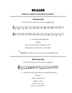 Scales and Chords booklet