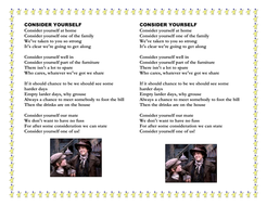 Consider Yourself lyrics- Oliver Twist