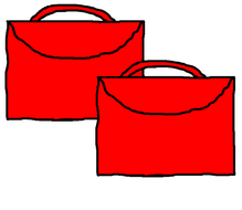Pictures for making classroom notices - bookbags