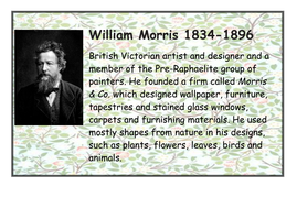 William Morris label & background information