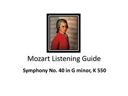 Mozart Listening Guide