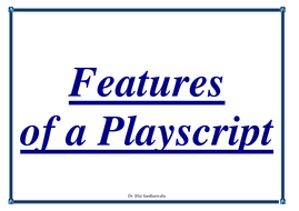 Glossary for Playscripts