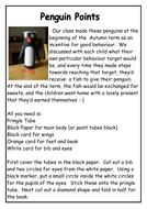 Winter Penguin Points Craft - Behaviour Management
