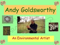 Andy Goldsworthy- environmental artist