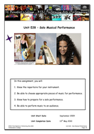 Solo Musical Performance Assignment
