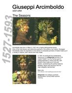 Artist Information sheets