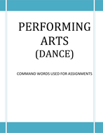 Dance Command Words to Display