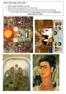 Frida Kahlo - Activity/Information handouts