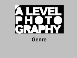 Photography & its Genres