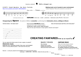 Fanfares - A Composer's Notebook